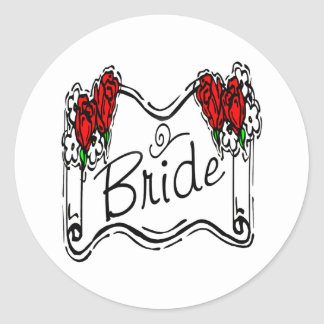 Bride T-Shirts & Gifts Classic Round Sticker