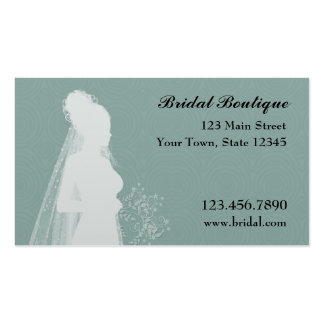 Bride, Teal, Business Card