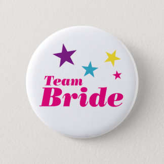 Bride team pinback button