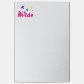 Bride team post-it® notes