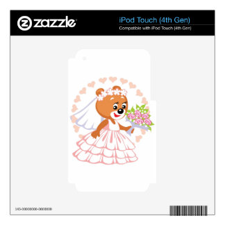 Bride teddy bear iPod touch 4G decals
