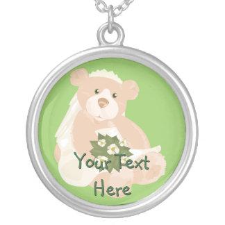 Bride Teddybear Necklace