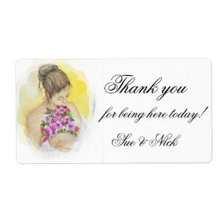 BRIDE  thank you  favor Label