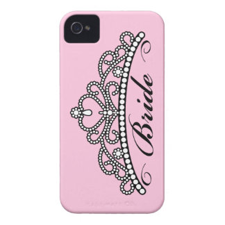 Bride Tiara Blackberry Case (pink background)