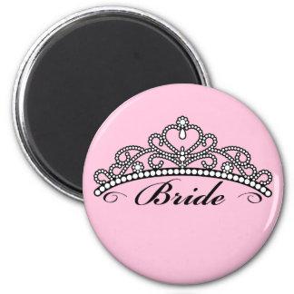Bride Tiara Magnet (pink background)