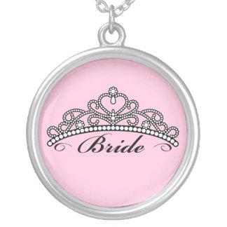 Bride Tiara Necklace (pink background)