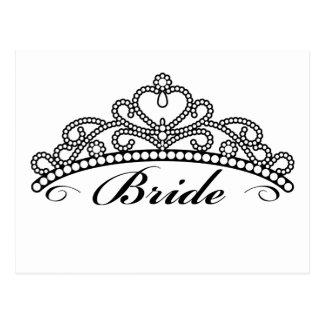 Bride Tiara Postcard