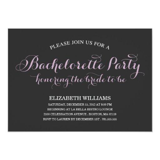 BRIDE TO BE | BACHELORETTE PARTY INVITATION
