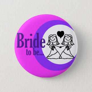 Bride to be badge pinback button