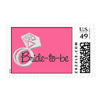 Bride-to-be & Big Diamond Ring USPS Stamps