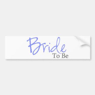 Bride To Be (Blue Script) Car Bumper Sticker