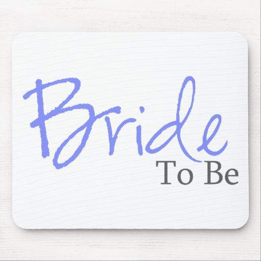 Bride To Be (Blue Script) Mouse Pad