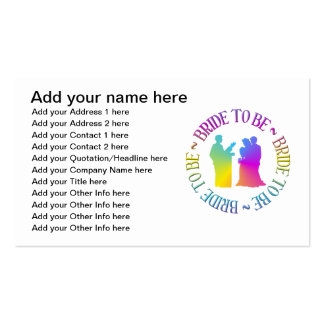 """"""" Bride to be """" Business Card Templates"""