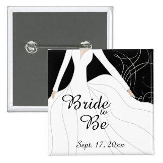 Bride to Be 2 Inch Square Button