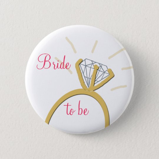 Bride to be button 2 1/4""