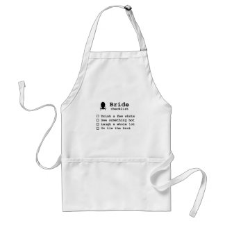 Bride to be checklist adult apron