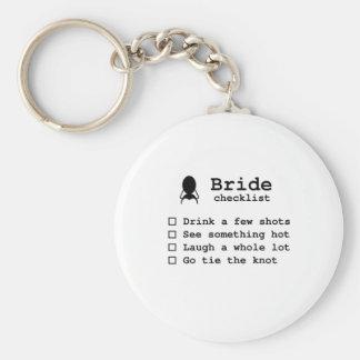Bride to be checklist keychain