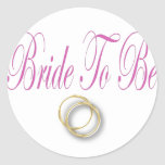 bride to be classic round sticker