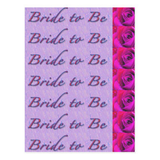Bride-to-Be Design Postcard