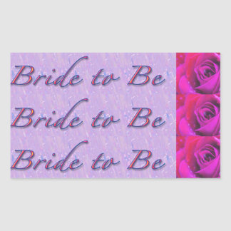Bride-to-Be Design Rectangular Sticker