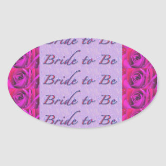 Bride-to-Be Design Oval Sticker