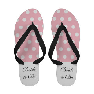 Bride to Be Flip Flops - Pink and White