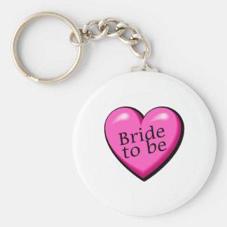 Bride To Be Heart Basic Round Button Keychain