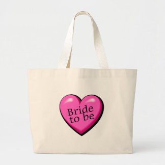 Bride To Be (Heart) Large Tote Bag