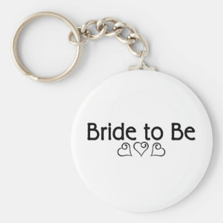 Bride To Be Hearts Keychain