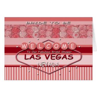 """Bride To Be"" Las Vegas BRIDAL SHOWER Card"