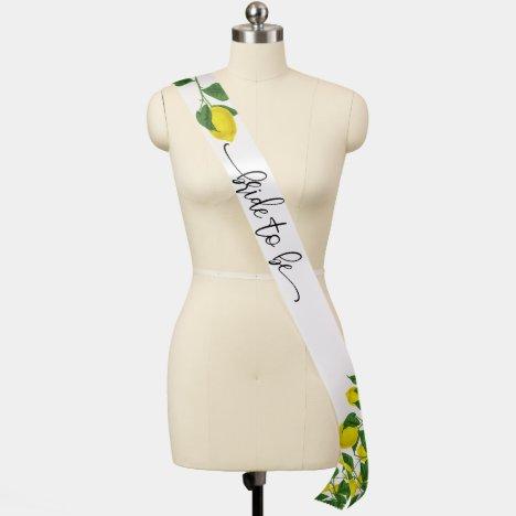 Bride to Be Lemon Custom Bride Sash