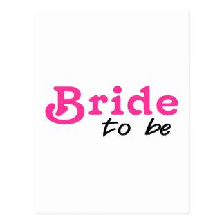 Bride To Be Pink Black Postcard