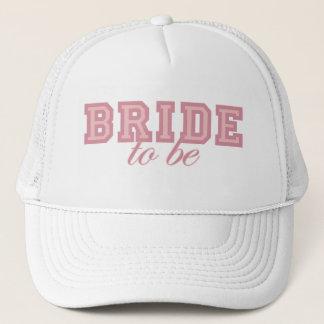 Bride to Be Pink Block Trucker Hat