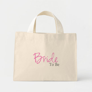 Bride To Be (Pink Script) Tote Bags