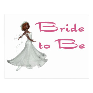 Bride To Be Postcard