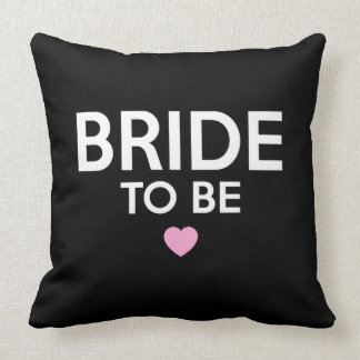 Bride To Be Print Throw Pillow