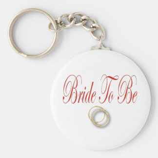 bride to be red basic round button keychain