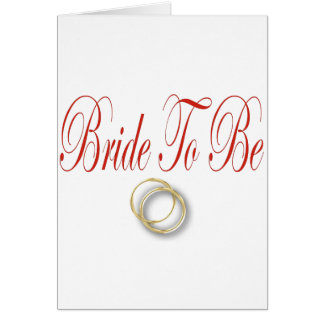 bride to be red card