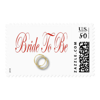 bride to be red postage