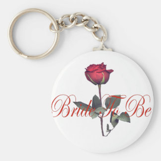 bride to be red rose key chains