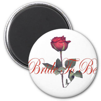 bride to be red rose magnets