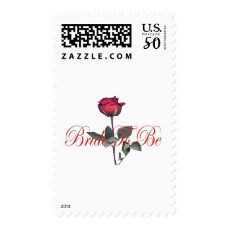 bride to be red rose postage
