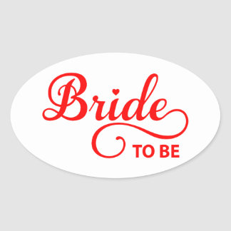Bride to be red word art text design for t-shirt sticker