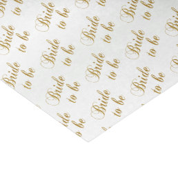Bride to Be Script Word Pattern Tissue Paper