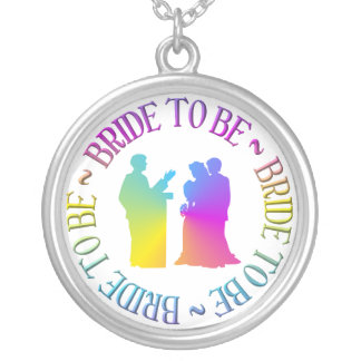 """"""" Bride to be """" Silver Plated Necklace"""