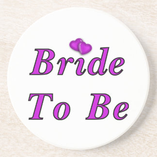 Bride To Be Simply Love Sandstone Coaster