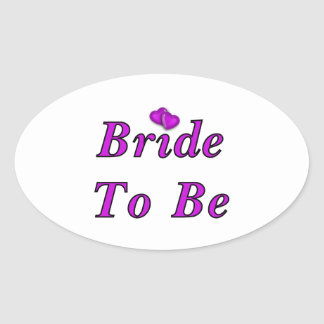 Bride To Be Simply Love Oval Sticker