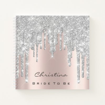 Bride To Be Sweet 16th Spark Princess Makeup Gray Notebook