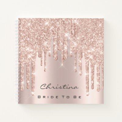 Bride To Be Sweet 16th Spark Princess Makeup Rose Notebook