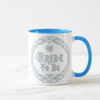 Bride To Be With Veil, Fancy Pink - Teal Vintage Mug